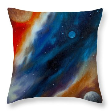 Star System 2034 Throw Pillow by James Christopher Hill