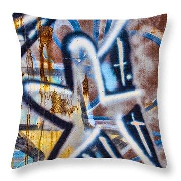 Star Train Graffiti Throw Pillow