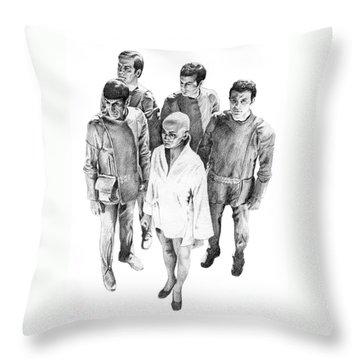 Star Trek - Meeting With V'ger Throw Pillow by Liz Molnar