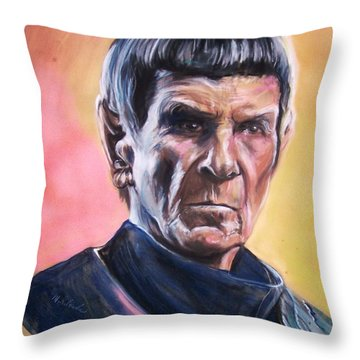 Star Trek Old Spock  Throw Pillow