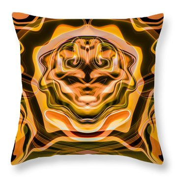 Throw Pillow featuring the painting Star Trek by Omaste Witkowski