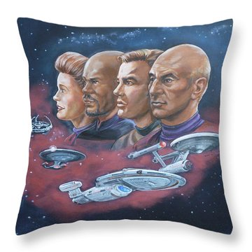 Star Trek Tribute Captains Throw Pillow by Bryan Bustard