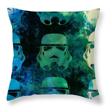 Star Warriors Watercolor 1 Throw Pillow