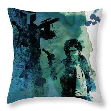Star Warriors Watercolor 2 Throw Pillow