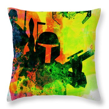 Star Warriors Watercolor 3 Throw Pillow