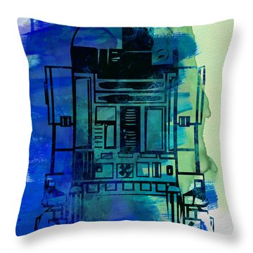 Star Warriors Watercolor 4 Throw Pillow