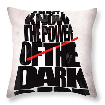 Star Wars Inspired Darth Vader Artwork Throw Pillow by Ayse Deniz