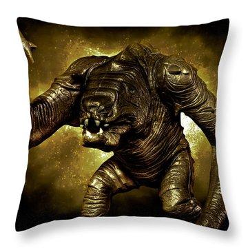 Star Wars Rancor Monster Throw Pillow by Nicholas  Grunas
