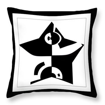 Throw Pillow featuring the digital art Star by Wendy J St Christopher