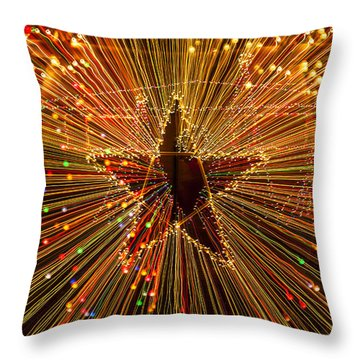 Star Zoom  Throw Pillow by Garry Gay