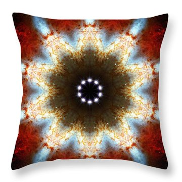 Starburst Galaxy M82 I Throw Pillow