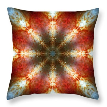 Starburst Galaxy M82 II Throw Pillow