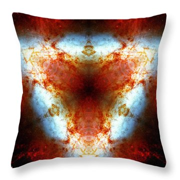 Starburst Galaxy M82 Vi Throw Pillow