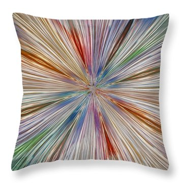 Throw Pillow featuring the photograph Starburst by Geraldine DeBoer