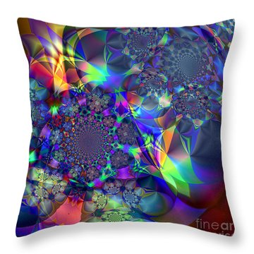 Throw Pillow featuring the digital art Starcluster 1 by Ursula Freer