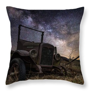 Stardust And  Rust Throw Pillow