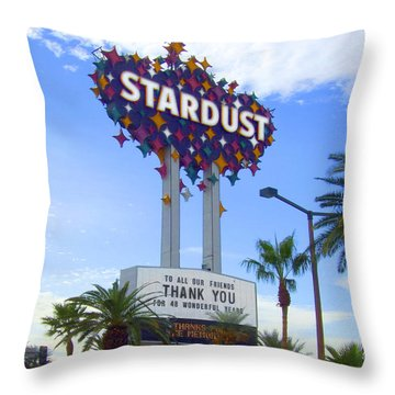 Stardust Sign Throw Pillow by Mike McGlothlen