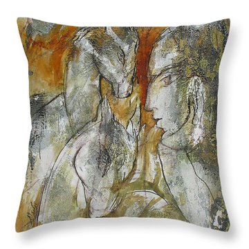 Stare Throw Pillow by Floria Varnoos