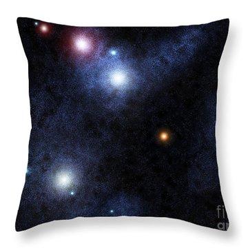 Starfield Throw Pillow by Antony McAulay