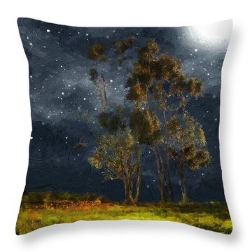 Starfield Throw Pillow by RC deWinter