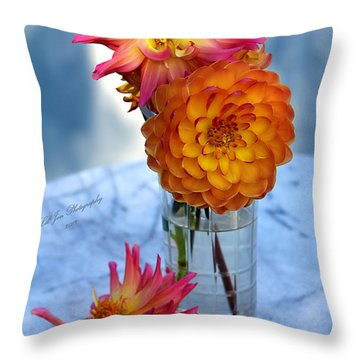 Throw Pillow featuring the photograph Starfire by Jeanette C Landstrom