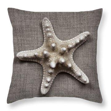Starfish And Sticks Throw Pillow