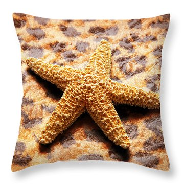Starfish Enterprise Throw Pillow by Andee Design