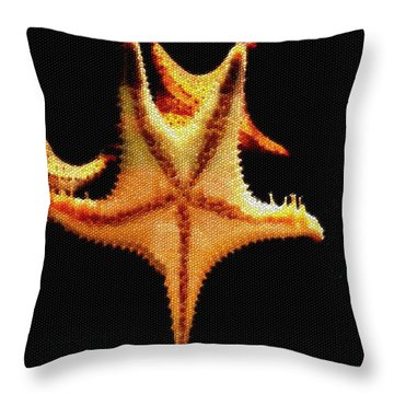 Throw Pillow featuring the photograph Starfish In Mosaic by Janette Boyd