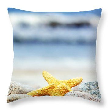 Starfish Throw Pillow by Michal Bednarek