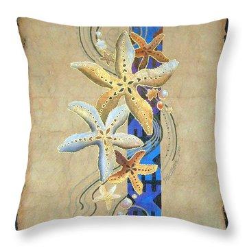 Starfish On Blue Masi Throw Pillow