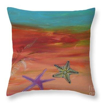 Starfish Throw Pillow by PainterArtist FIN