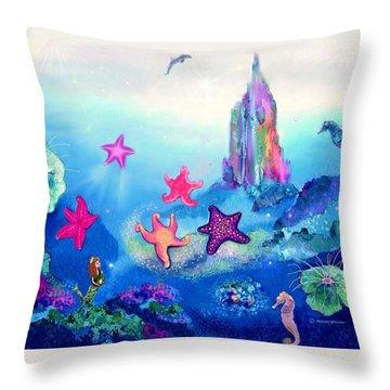 Starfish Play Throw Pillow