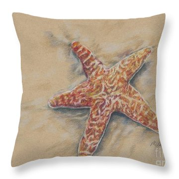 Starfish Study Throw Pillow by Meagan  Visser
