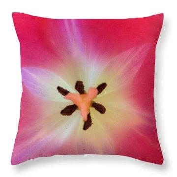 Starfish Tulip Throw Pillow