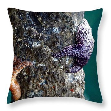 Starfish Under The Pier Throw Pillow