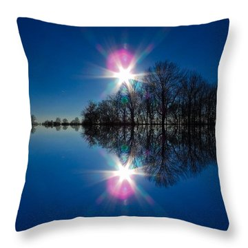 Starflection Throw Pillow by Nick Kirby