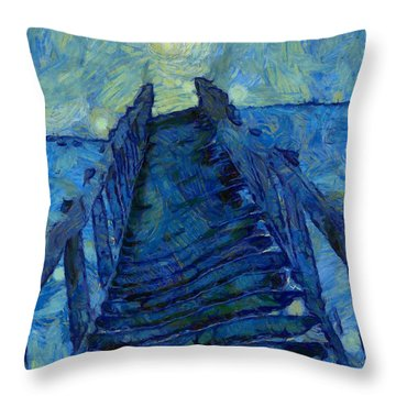 Stargate Stairs Throw Pillow by Dan Sproul