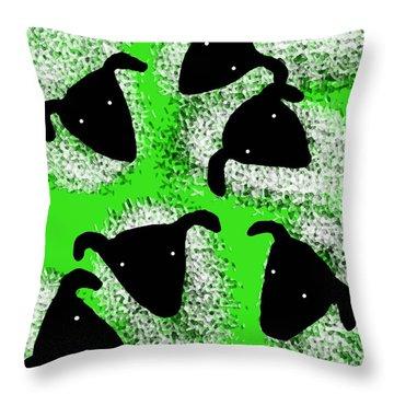 Stargazing Sheep Throw Pillow