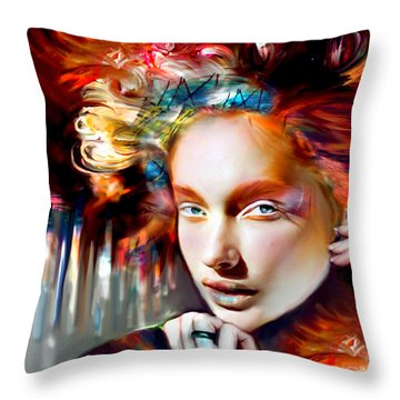 Stargirl I Bleed Color Throw Pillow