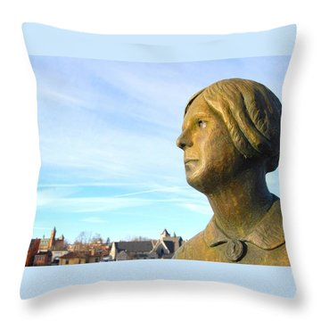 Staring Statue Throw Pillow