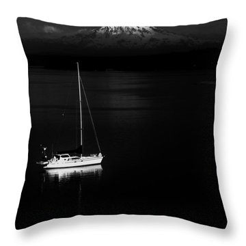 Stark Sail Throw Pillow by Benjamin Yeager