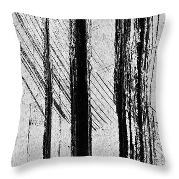 Starlight Behind The Trees Throw Pillow by KM Corcoran