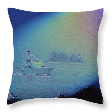 Throw Pillow featuring the digital art Starlight Cruising by Victoria Harrington