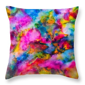 Throw Pillow featuring the painting Starlight by  Heidi Scott