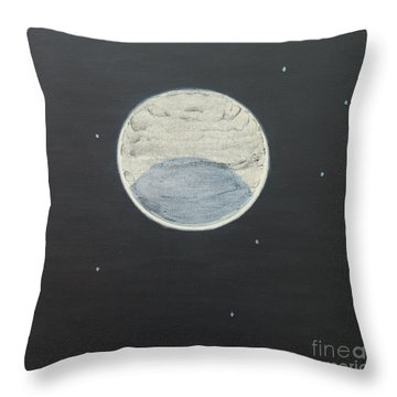 Throw Pillow featuring the painting Starlight by Mini Arora
