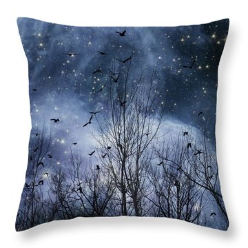 Starlight Pillow By Gothicolors Donna Snyder  Throw Pillow