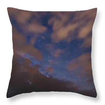 Throw Pillow featuring the photograph Starlight Skyscape by Marty Saccone