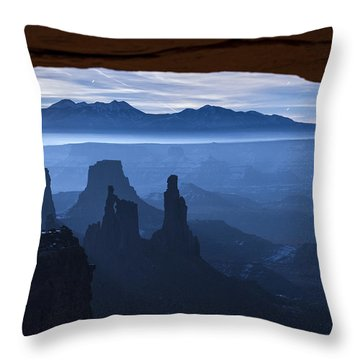 Throw Pillow featuring the photograph Starlit Mesa  by Dustin  LeFevre
