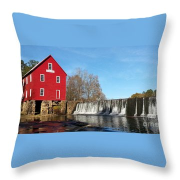 Starr's Mill In Senioa Georgia Throw Pillow by Donna Brown