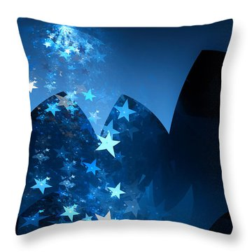 Throw Pillow featuring the digital art Starry Night by GJ Blackman